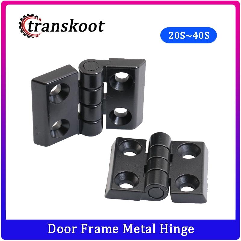 Door Frame Black Metal Hinge for T Slot Aluminum Extrusion Profile 2020 3030 4040 Series