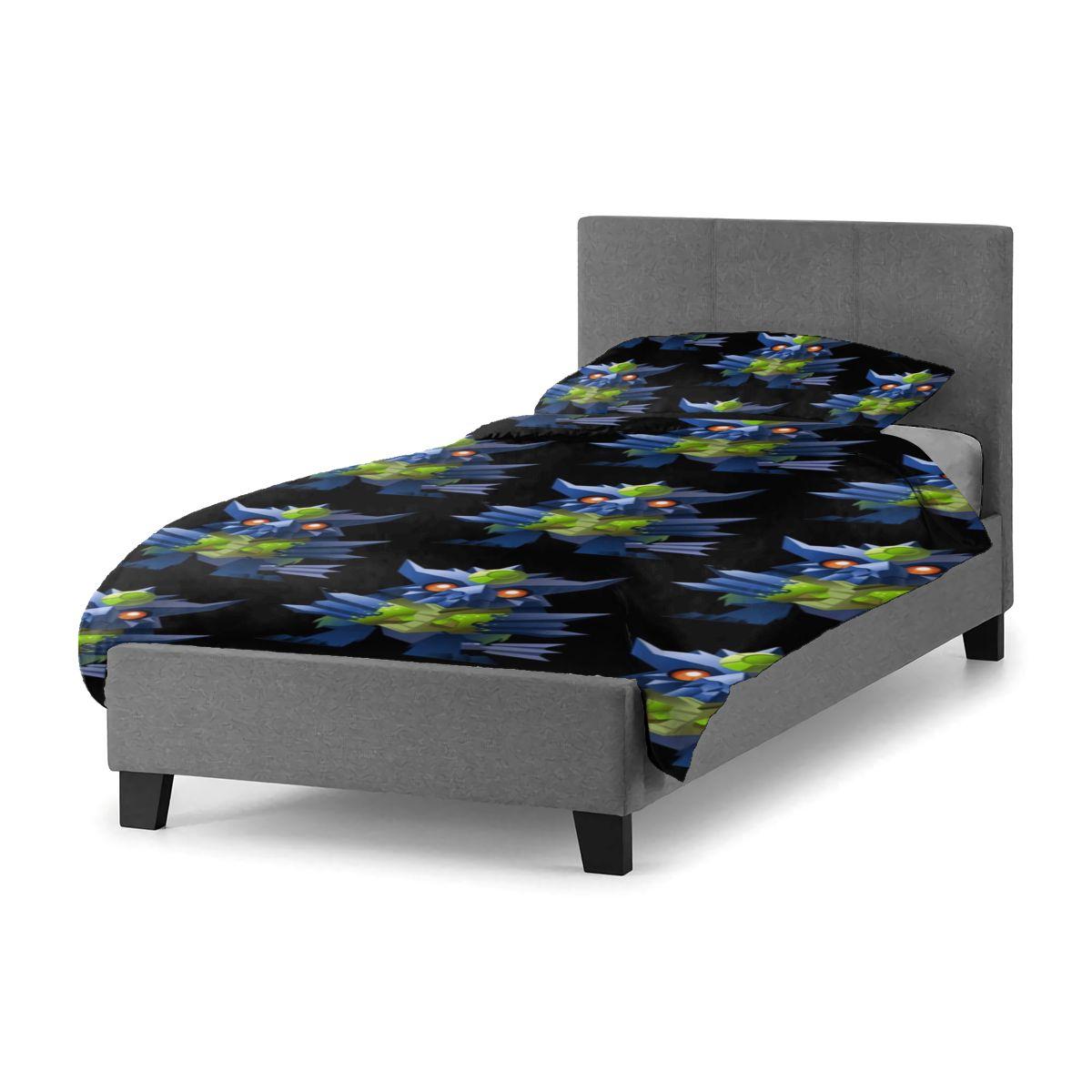 الوحش هنتر طقم سرير غرفة نوم المراهقين أغطية سرير غطاء ورقة المعزي رخيصة