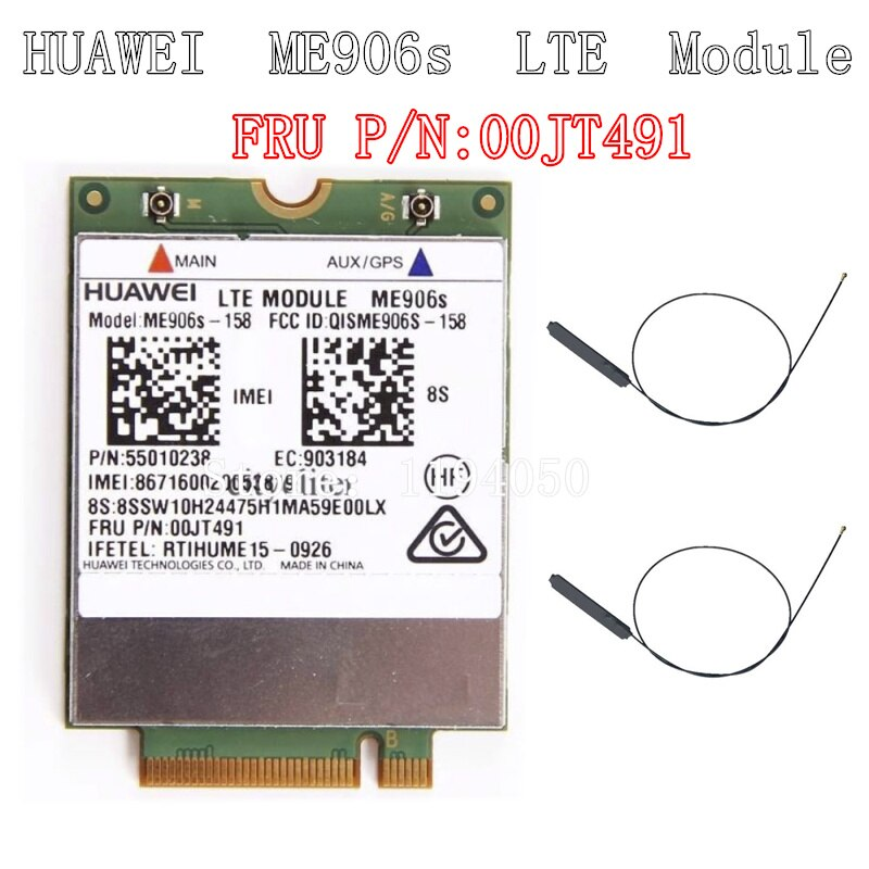 Huawei ME906S ME906S-158 FRU 00JT491 00JT491 LTE Original M.2 Qualband FDD LTE 4G módulo Thinkpad T460 L460 P50s T560 X260 X1 Ca