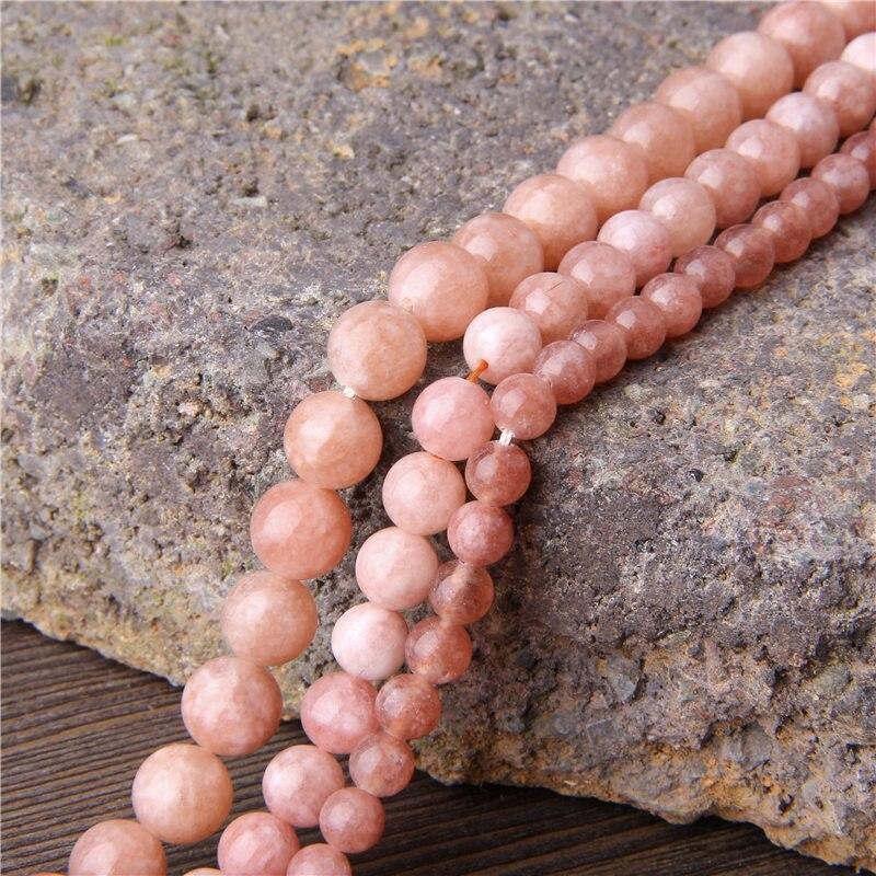 """15,5 """"cuentas naturales de Angelita 6mm, 8mm, 10 mm y 12 mm cuentas de jade de Calcedonia pulidas de color gris y rosa para hacer pulseras de joyería DIY"""