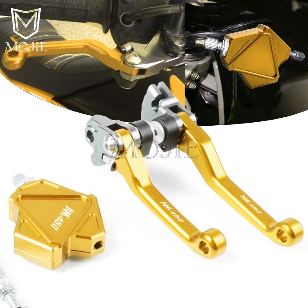 Para SUZUKI RMZ450 RMZ 450 2005-2018 Motocross CNC de freno de pivote doble palanca de embrague Easy Pull sistema de Cable Dirtbike de la motocicleta