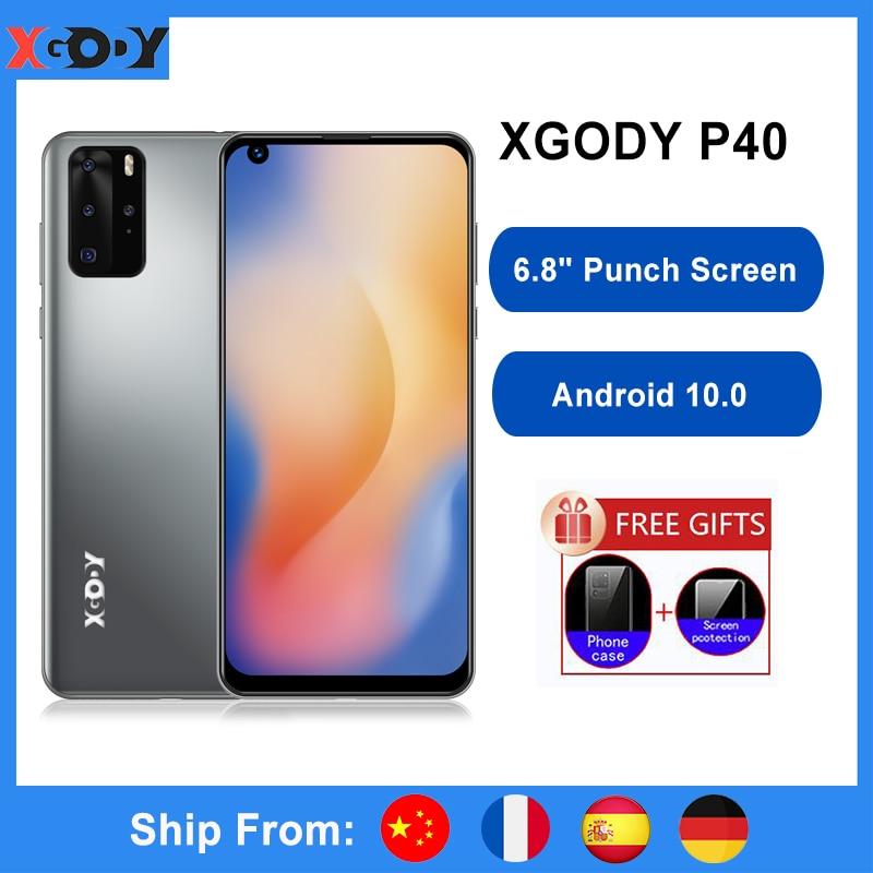 XGODY P40 Celular Smartphone Android 10 6.8