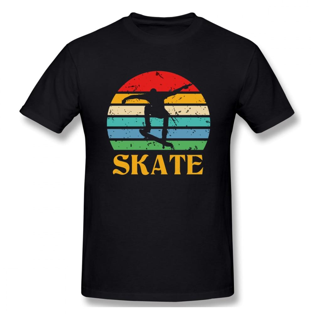 2021 New Retro Skate Skateboard Skateboarding Skateboardg(1) Men's Basic Short Sleeve T-Shirt Europe