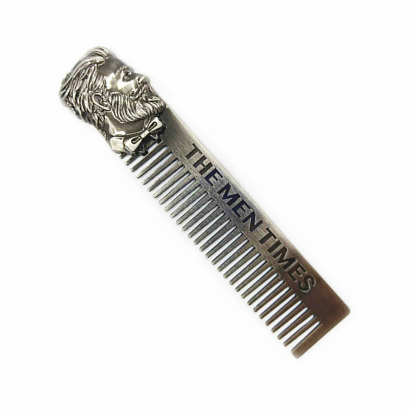 High Quality Cool Men Beard Shaping Template Stainless Steel Beard Comb Men Hair Beard Trim Tool недорого