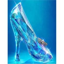 5D DIY Diamond Painting Crystal Shoes Full Round Drill Rhinestone Diamond Embroidery Cross Stitch High Heels Home Wall Decor