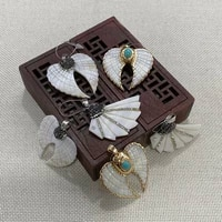 freshwater shell natural pendant wing shaped pendant can be handmade exquisite accessories fashion jewelry decoration wholesale