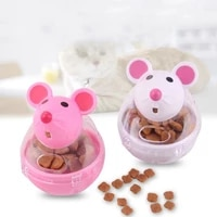 1pc pet feeder toy mice food rolling leakage dispenser bowl playing training funny toys for kitten cats toy pet supplies
