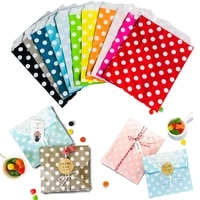 100pcs 1813cm paper bags multicolor striped chevron dot party favor candy bags cookie chocolate package gift bags packing pack