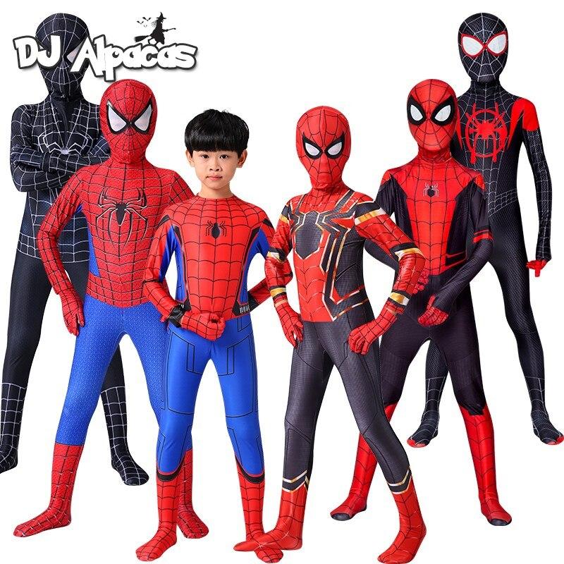 Iron Spider Cosplay Amazing Spider-boy Man Halloween Costume Peter Parker Zentai Suit Superhero Body