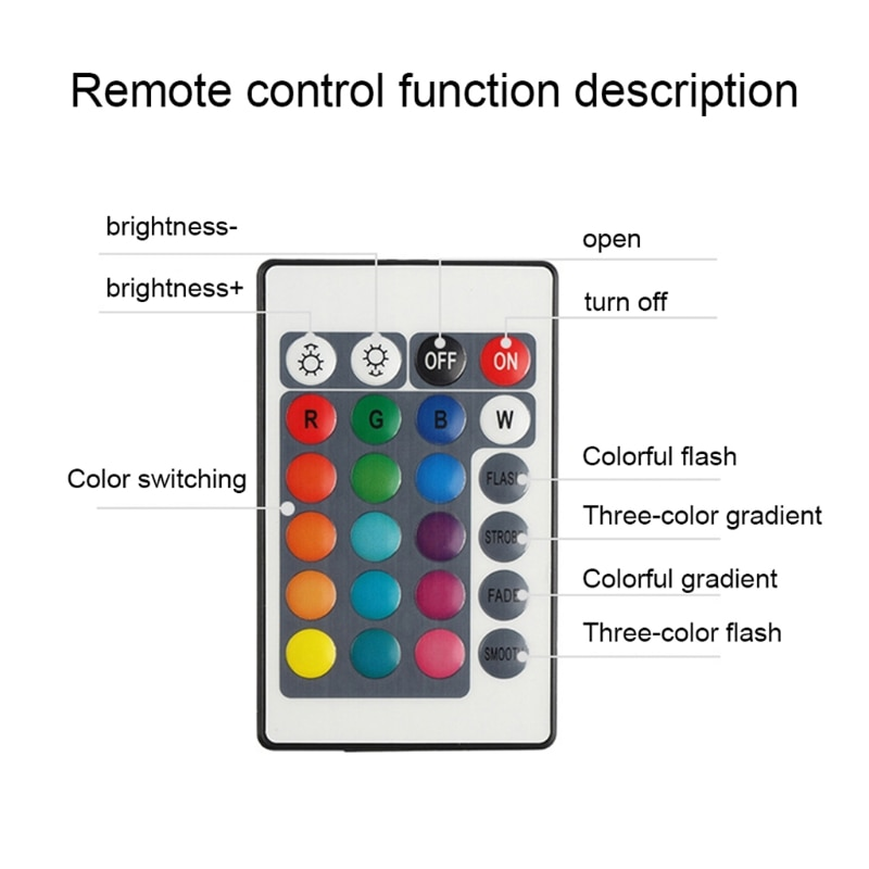16 Colors LED Moon Lamp Board Remote Control Light Source Night 3D Printer Parts T21A