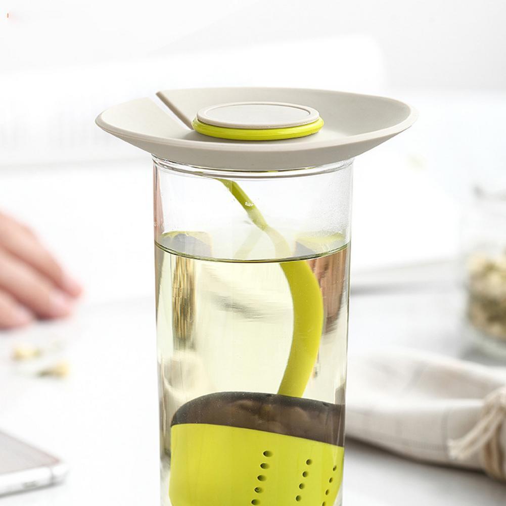 Infusor de té de silicona bolsa de colador de té de silicona difusor de filtro de especias a base de hierbas reutilizable