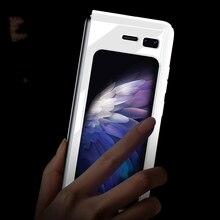 Для Samsung Galaxy складной чехол класса люкс УФ фарфор жесткий поликарбонатный чехол для телефона для Samsung Galaxy W2020 5G противоударный чехол