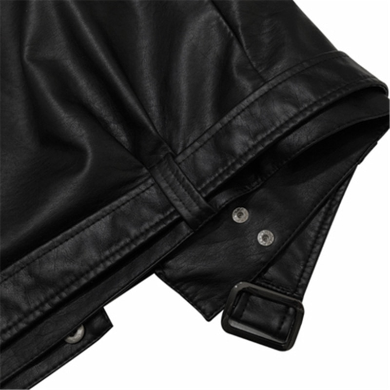 Autumn Winter Women's PU Leather Jackets High Quality Female Leather Coats With Belt Moto & Bike Loose Ladies Jackets Outerwear enlarge