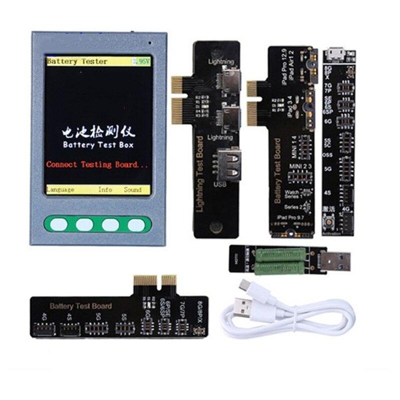 Probador con Cable USB probador de batería para iPhone XS XR XS Max X 8 8P 7 7P 6S 6 6P 5 5S comprobador de batería probador de Cable de datos ciclo claro