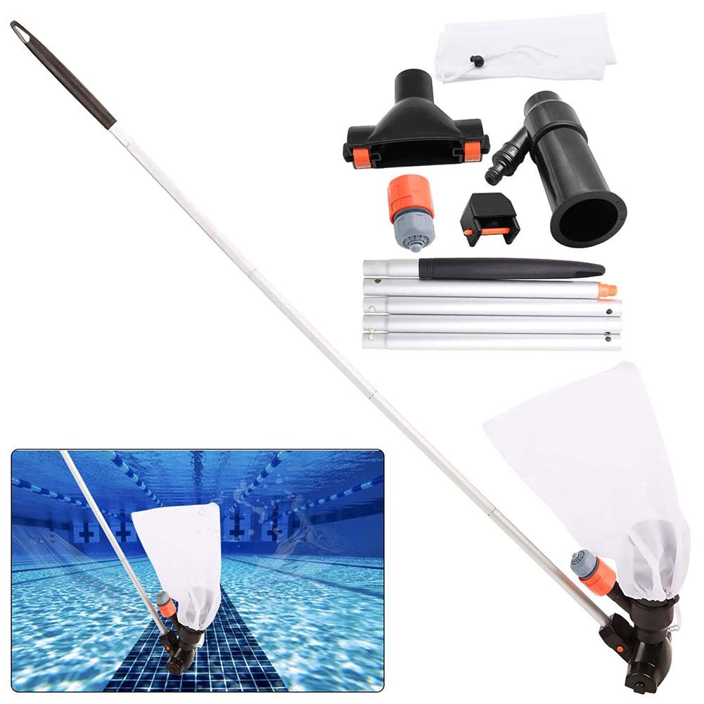 Pool Vacuum Cleaning Kit Mini Vacuum Cleaner Pool Skimmer Pool Nets For Cleaning Floating Skimmer Pool Leaf Net Swimming Tools