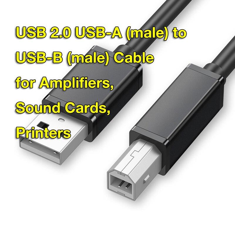 Cable USB 2,0 tipo A tipo B para impresora, Compatible con Piano,...