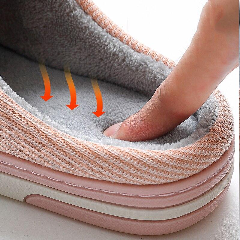 Chaussons pour hommes mousse à mémoire de forme pantoufles pour la maison 2020 hiver antidérapant mâle maison chaussures rayure unisexe intérieur grande taille 11-12
