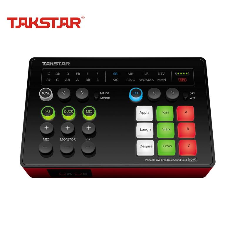 Takstar SC-M1 البسيطة المحمولة تسجيل الصوت بطاقة USB 2.0 سماعة Mic البث الشبكي بث مباشر الكاريوكي للكمبيوتر الهاتف الكمبيوتر
