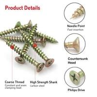 50pcs m4 8 drywall screws 40mm 50mm 60mm 65mm 75mm 100mm wood fastener