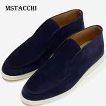 MStacchi 2020 Mode Kühlen Männer Casual Schuhe Real Leder Flache Hohe Qualität Slip-On Loafer Schuhe Bequem Licht Männer schuhe
