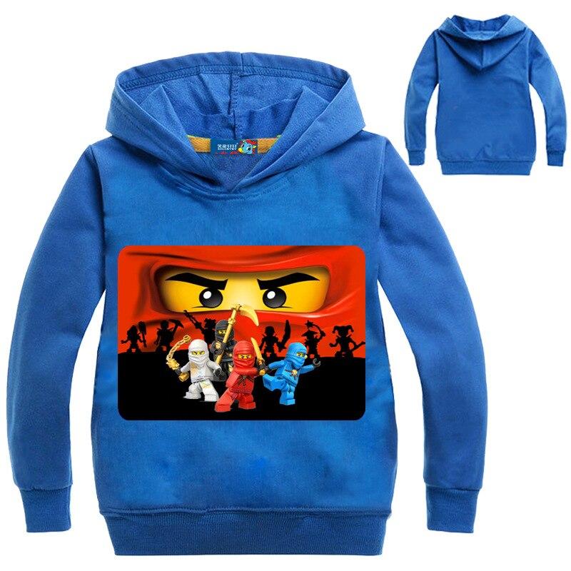 Nuevas camisetas con capucha de Legoes bebés para niños y niñas con capucha de manga larga para niños ropa de primavera y otoño para niños