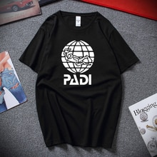 Diving enthusiasts scuba driver padi T Shirt Summer Short Sleeve Cotton Padi T-Shirt Mans Tshirt Tops Tees
