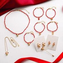 2020 nouvel an chinois zodiaque boucles doreilles colliers Bracelets broche mode ensemble de bijoux pour les femmes mignon émail cristal petite souris