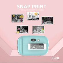 Print Camera Bluetooth Wireless Paper Photo Printer Pocket Thermal Printing USB Connection Cartoon Kids Instant Photo Printing