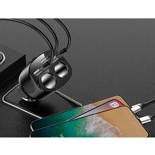 2 USB chargeur de voiture 3.1A double-trou allume-cigare + type-c chargeur automatique adaptateur, pour iPhone XR XS 11 Pro Samsung