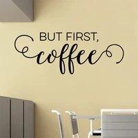 creative but firstcoffee waterproof wall stickers wall art decor kids room nature decor waterproof wall art decal