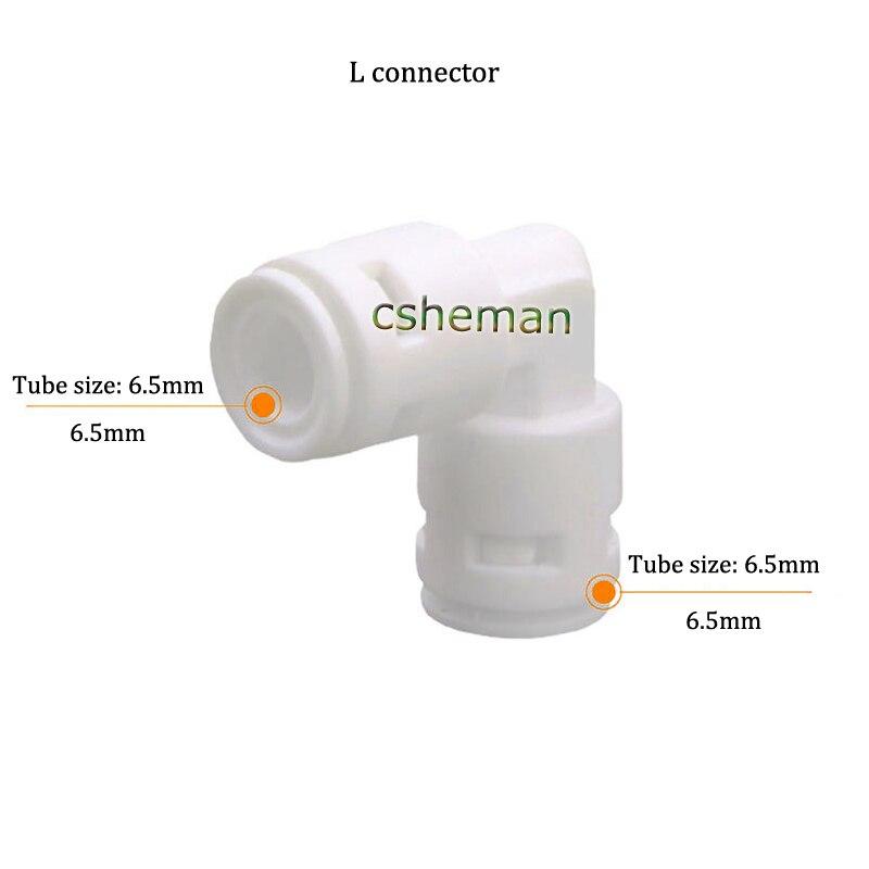 """Purificador ROwater, accesorios de juntas para máquina de agua pura, conexión de tubo OD 90 de 1/4 """"3/8"""", Conector de acoplamiento rápido para válvula de codo"""