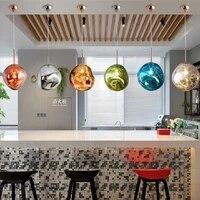 lava chandelier restaurant cafe bar table living room lamp special shaped irregular glass chandelier bedroom gray glass