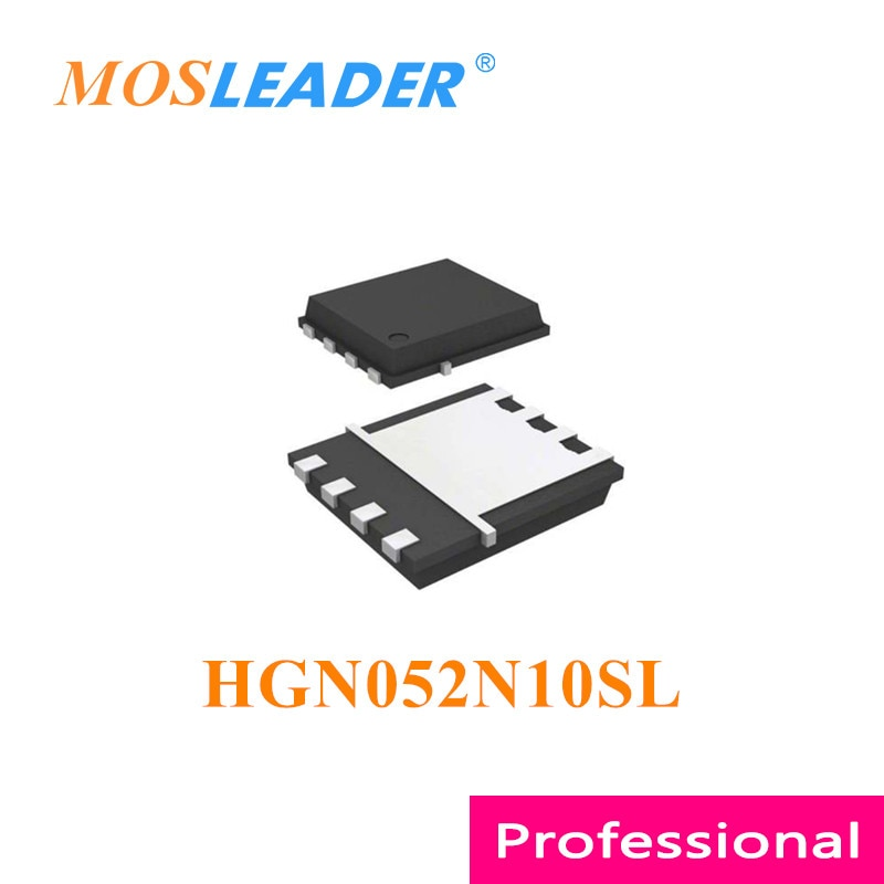 Mosleader HGN052N10SL DFN5X6 100 قطعة 500 قطعة 1000 قطعة HGN052N10 N-قناة 100V 115A الصينية عالية الجودة Mosfets