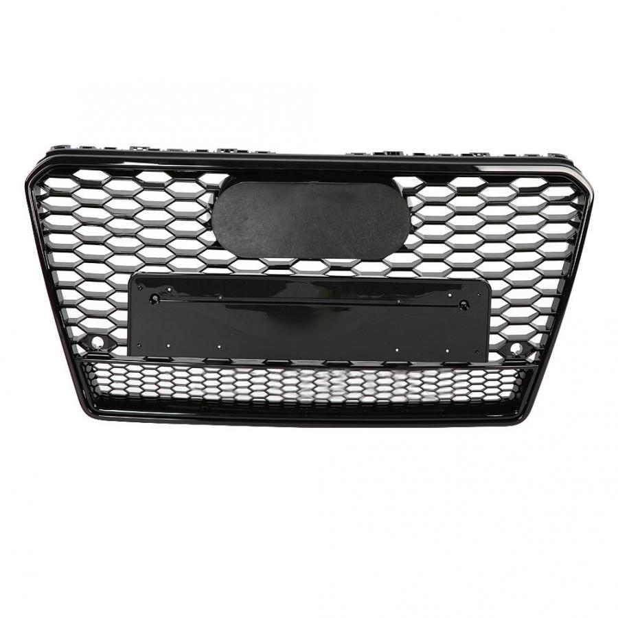 Para RS7 estilo frente deporte Hex malla nido de abeja HoodGrill negro brillante para Audi A7/S7 2011 2012 2013 2014 accesorios para automóviles