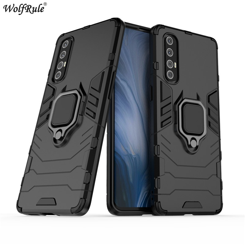 Ring Holder Case For OPPO Reno3 Pro Cover Armor Housings Protective Back Phone Bumper For OPPO Reno 3 Pro Cases Funda Etui