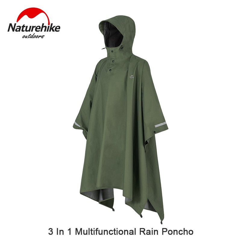 Naturehike Breathable Cloak Poncho Multifunction Outdoor Camping Hiking PU10000mm Waterproof Raincoat Men And Women Ultralight