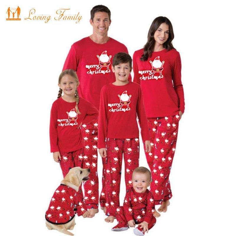 Pijamas de Navidad para Familia, Año Nuevo 2020, traje familiar, conjunto para padre, madre e hija, conjuntos de ropa de niño, pijamas de estilo familiar