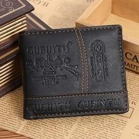 men casual small money purses wallets leather pu new design multi function coin bag zipper small money purses clutch money clip