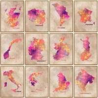 5d diy diamond painting colorful map picture cross stitch gift squareround full drill embroidery mosaic art home decoration