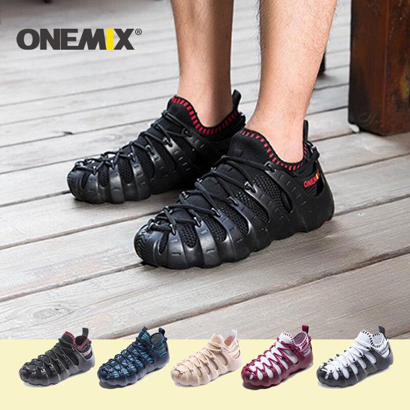 ONEMIX männer laufschuhe Multifunktionale sport schuhe jogging turnschuhe männer outdoor wanderschuhe frauen Römischen Sandalen männer 2020NEW
