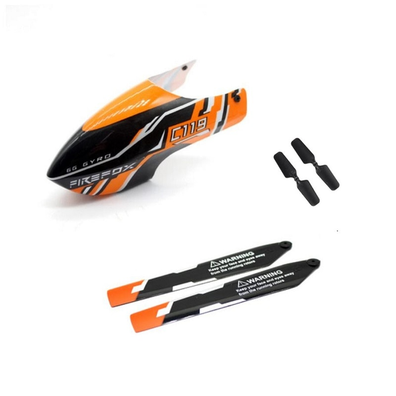 Crash Pack for C119 4CH RC Helicopter Spare Parts C119 Replacement accessories Canopy + Main Blade +