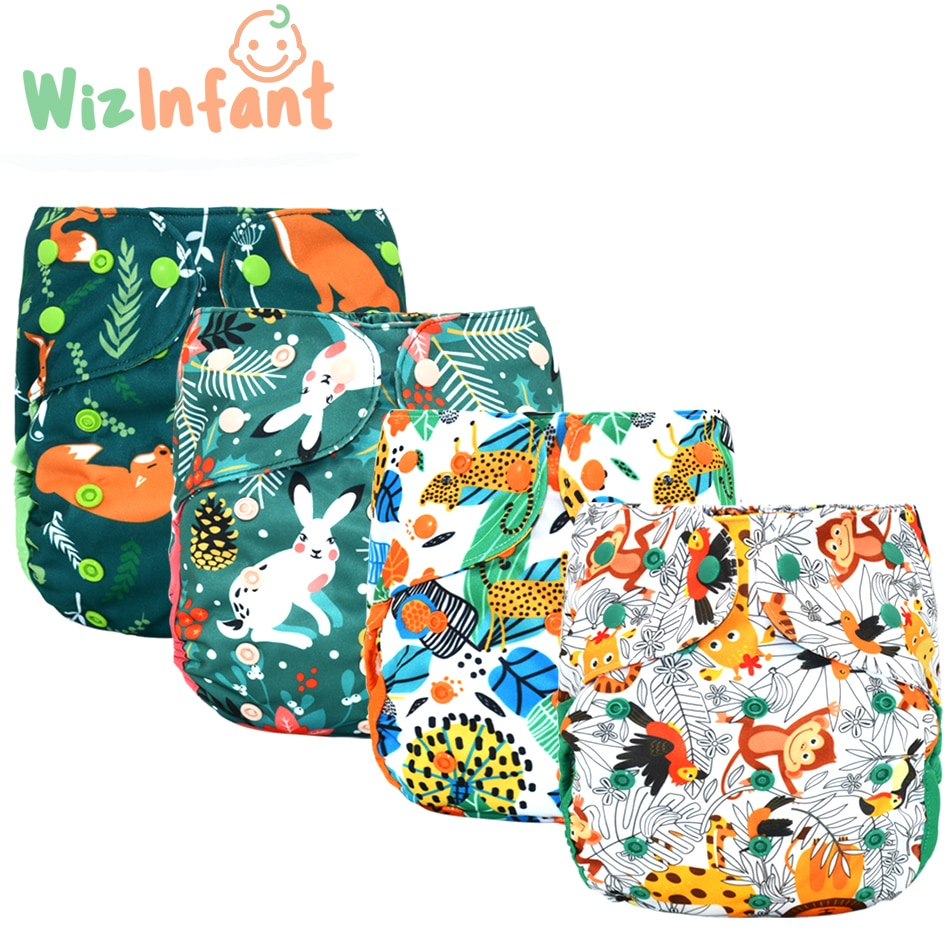 WizInfant 2pcs/lot Eco-Friendly Big XL Cloth Diaper Cover for Baby 2 Years and Older, Adjustable Diaper Washable Cloth Nappy