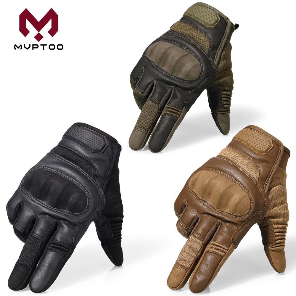 Touch Screen Motorcycle Gloves Moto Motorbike Motocross PU Leather Biker Driving Wear Resistant Full Finger Glove ATV Men Women enlarge