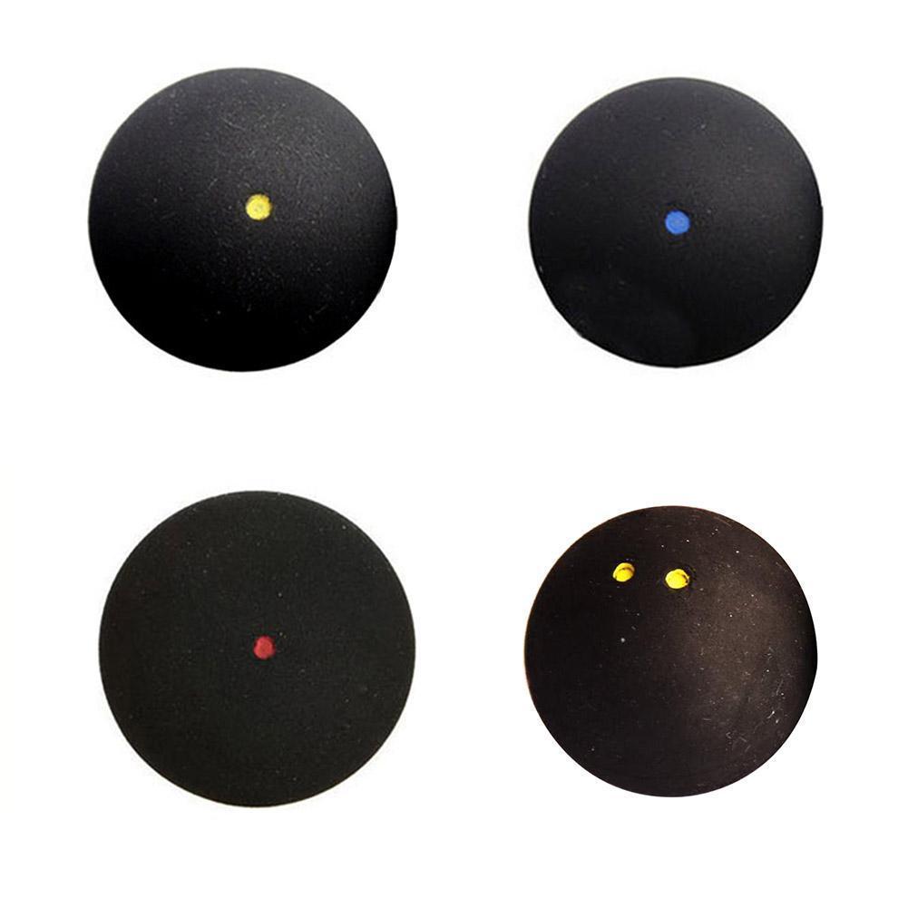1 шт. Сквош-мяч с двумя желтыми точками, низкоскоростной спортивный резиновый сквош, тренировочные профессиональные мячи, аксессуары для со...