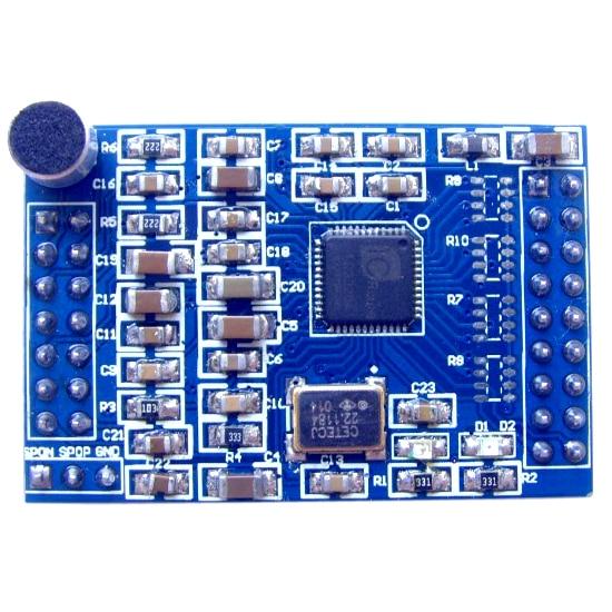 Módulo de Reconhecimento de Voz Asr com Microfone com Oscilador de Cristal da Fonte Específico Não Ld3320