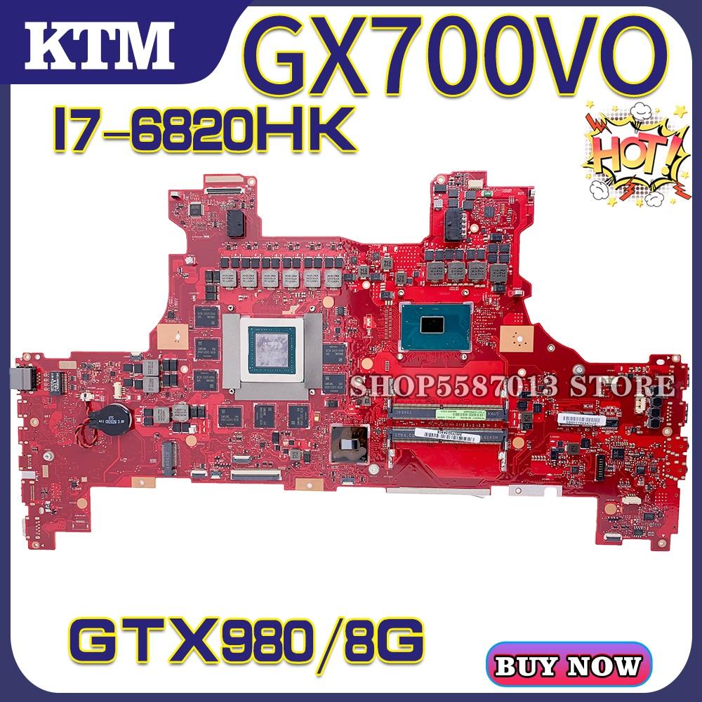 GX700 for ASUS ROG GX700VO GX700V laptop motherboard mainboard test OK I7-6820HK cpu GTX980M/8G 100%