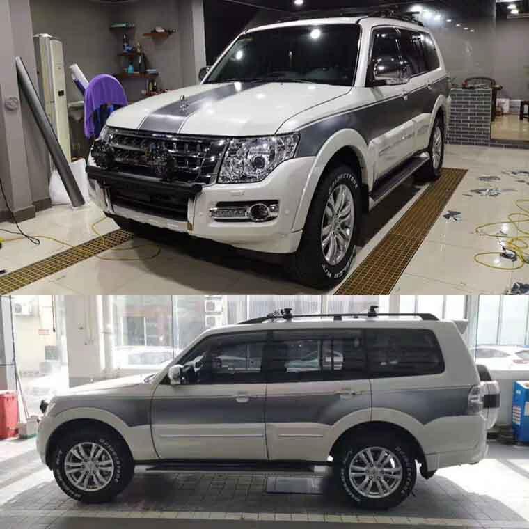 SUV sticker pull flower color strip Pajero V93 V97 body exterior decoration For Mitsubishi 2019