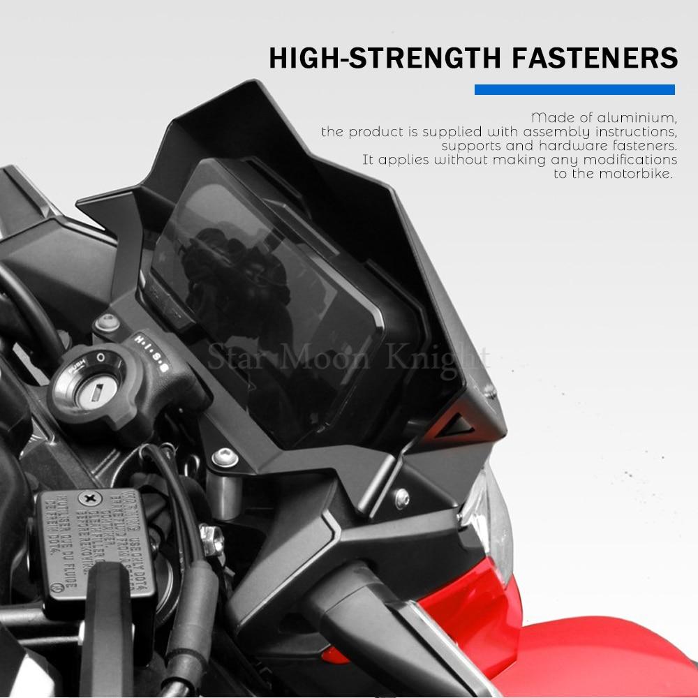 Aluminum Motorcycle Motorbike Accessories Front Windshield Windscreen For HONDA CB500F CB 500 F CB500 F 2019 - 2020 Wind Shield