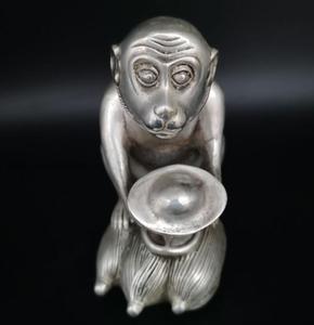 China White copper monkey Ingots crafts statue