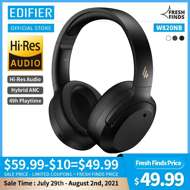 EDIFIER W820NB ANC Wireless Bluetooth Headphone Hi-Res Audio Bluetooth 5.0 40mm Driver Type-C Fast C